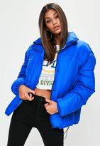Missguided Blue Ultimate Oversized Padded Jacket, Blue