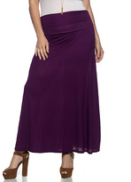 Purple Maxi Skirt - Plus