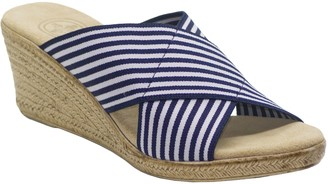 Charleston Shoe Co. Crisscross Sandals - Backless Cannon