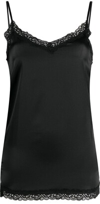 Max & Moi Lace-Detail Camisole Silk Top