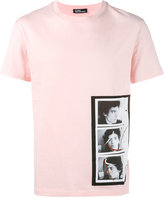 Raf Simons X Robert Mapplethorpe triptych print T-shirt - men - Cotton - XS