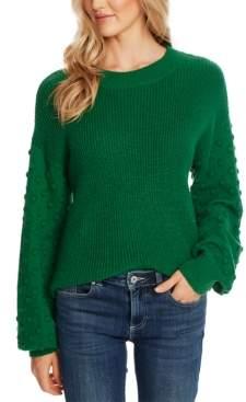 CeCe Bobble-Sleeve Sweater