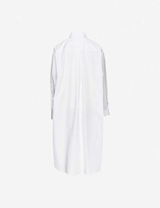 Maison Margiela Cutout cotton-poplin shirt midi dress