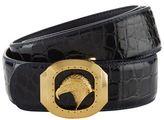 Stefano Ricci Square Eagle Patent Croc Belt