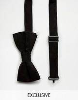 Reclaimed Vintage Inspired Velvet Bow Tie Black