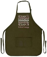 Mother's Day Gift It's a Grandma Thing You Wouldn't Understand Funny Apron for Kitchen BBQ Barbecue Cooking Baking Crafting Gardening Two Pocket Apron for Grandma or Mom Military Olive Green