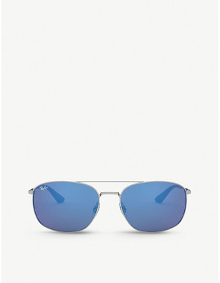 Ray-Ban RB3654 metal square-frame sunglasses