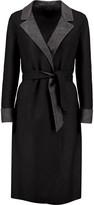 Agnona Belted herringbone cashmere coat