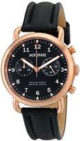Jack Spade Men's WURU0115 Norton Copper-Tone Stainless Steel Watch with Black Leather Strap