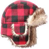 Joe Fresh Baby Boys' Check Trapper Hat, Red (Size 0-12)