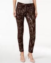 Alfani PRIMA Metallic Floral-Print Pants, Only at Macy's