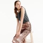 J.Crew Petite rose-gold sequin skirt