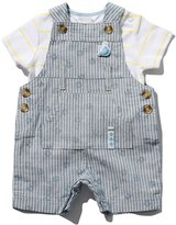 M&Co Whale dungarees and t-shirt set