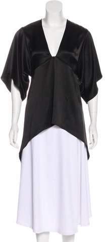 Halston Short Sleeve V-Neck Top