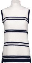 Derek Lam Striped Wool-Blend Turtleneck Sweater
