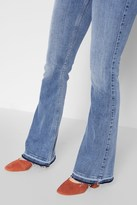 7 For All Mankind Ali Flare With Released Hem In Gold Coast Waves