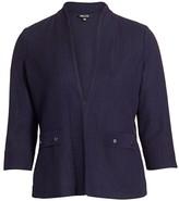 Misook Misook, Plus Size Button Detail Tailored Knit Jacket