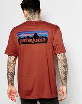 Patagonia T-shirt With P6 Logo Regular Fit - Red