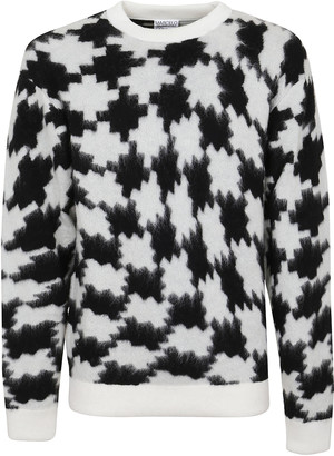 Marcelo Burlon County of Milan Cross Pdp Over Knit Long Crew