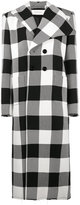 Marques Almeida Marques'almeida check print double breasted coat