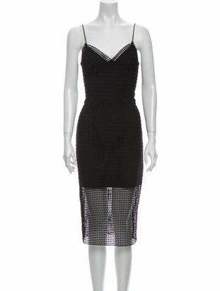 Nicholas V-Neck Midi Length Dress w/ Tags Black