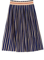 Scotch R'Belle Striped Cotton-Blend Pleated Maxi Skirt