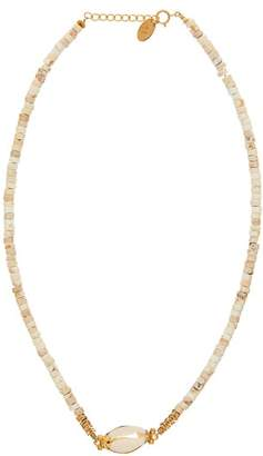 Elise Tsikis - Elyes Cowrie Shell Necklace - Womens - White