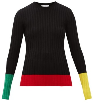 J.W.Anderson Colour-blocked Merino-wool Sweater - Womens - Black Multi