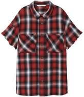 MANGO Boys Chest-Pocket Check Shirt