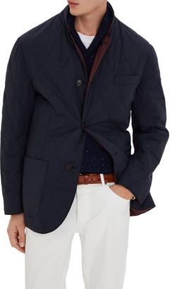 Brunello Cucinelli Men's Quilted Reversible Blazer Coat