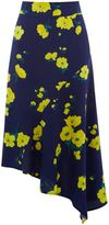 Warehouse Delia Flower Asymmetric Skirt