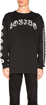 Marcelo Burlon County of Milan Neron L/S Tee in Black. - size M (also in S,XL)