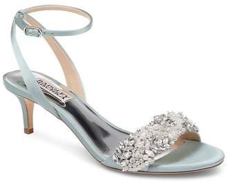Badgley Mischka Women's Fiona Embellished Kitten Heel Sandals