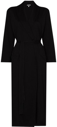 Skin Carina tie-waist mid-length robe