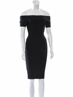 Herve Leger Carmen Bandage Dress Black