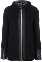 Herno zip up fitted jacket