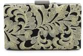 Mn&Sue Retro Lace Flower Embroidery Black Elegance Women Clutch Bag Lady Evening Cocktail Party Purse Wallet