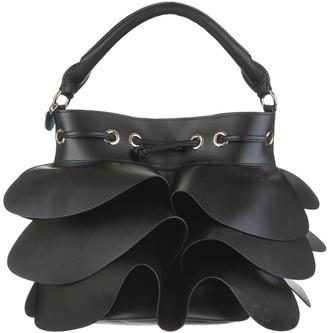 RED Valentino Black Rock Ruffles Bucket Bag
