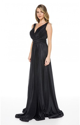 Ladyness Black Maxi Bridesmaid Dress