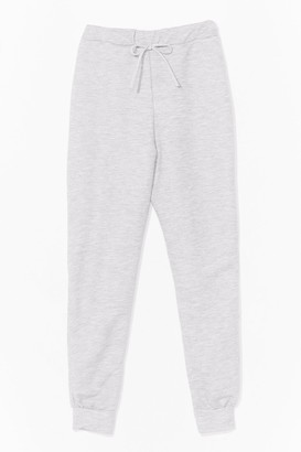 Nasty Gal Womens There Chances Are Slim High-Waisted Joggers - Grey
