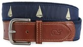 Vineyard Vines Men's 'Sailboats' Canvas Belt