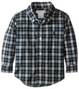 Ralph Lauren Poplin Long Sleeve Button Down Shirt (Infant)