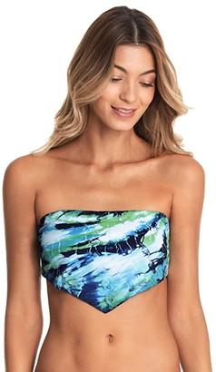 Maaji Kaleidoscope Dana Tie-Dye Reversible Bandeau Top (Blue) Women's Swimwear