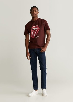 MANGO MAN - Rolling Stones T-shirt burgundy - XL - Men