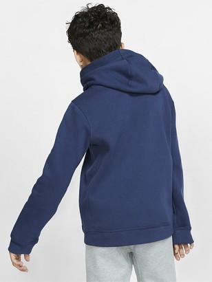 Nike Kids NSW Overhead Hoodie Club - Navy/White