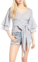 WAYF Women's Beckett Tiered Bell Sleeve Top