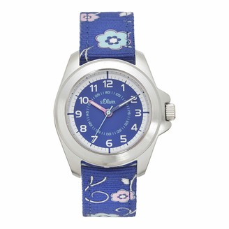 S'Oliver Girl's Analogue Quartz Watch with Fabric Strap SO-4258-MQ