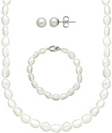 Honora Girl's Freshwater Pearl Necklace, Bracelet & Earrings