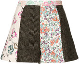 RED Valentino flared patchwork shorts