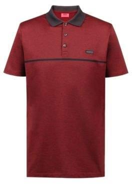 d202e828 HUGO Boss Regular-fit polo shirt in cotton jacquard tonal stripe XS Red